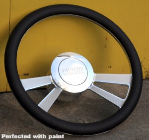 Painted and Polished Perfected Steering Wheel